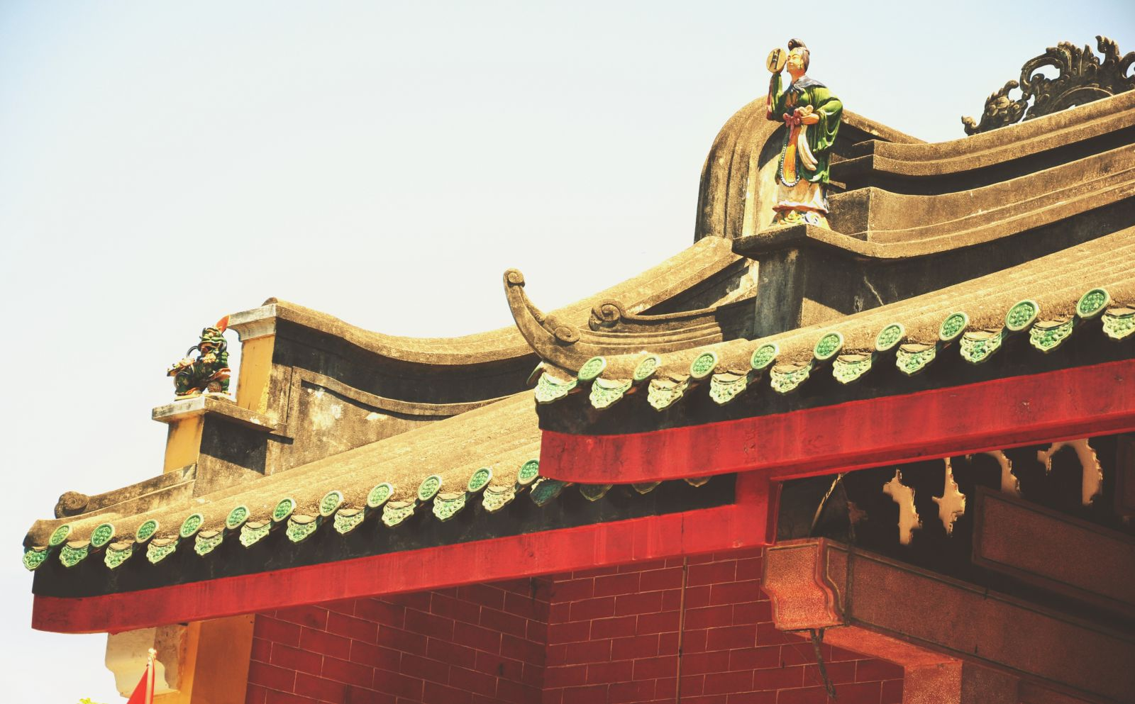 Chinese style tiled roof