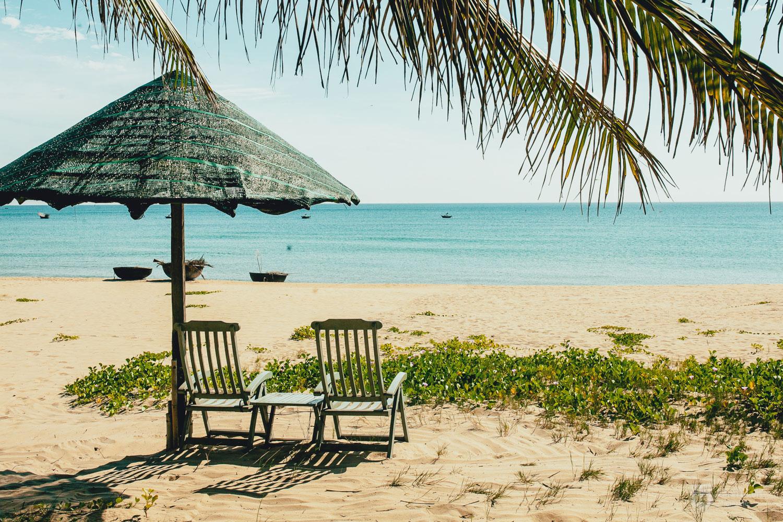 Beautiful beach in Hoi An